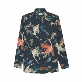 DUCHAMP LONDON Flocking Birds Print Shirt