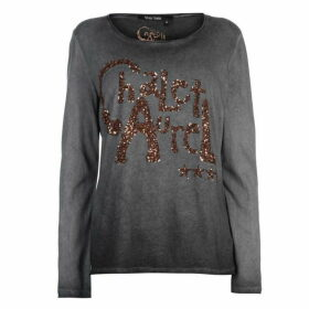 Marc Aurel Embellished Long Sleeve T Shirt