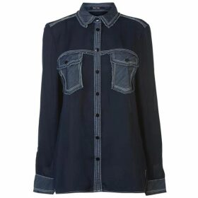 Marc Aurel Panel Denim Shirt