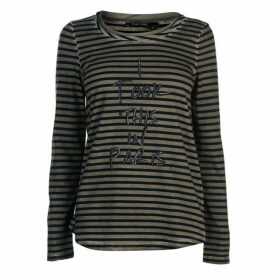 Marc Aurel Marc Stripe Long Sleeve T Shirt