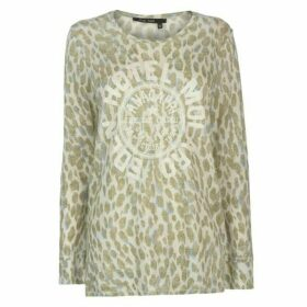 Marc Aurel Leopard Long Sleeve T Shirt Ladies