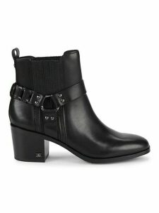 Dalma Studded Harness Leather Chelsea Boots