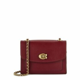 Coach Parker 18 Red Leather Cross-body Bag