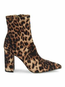 Winta Leopard-Print Sock Booties
