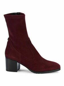 Cecilia Stretch Suede Booties