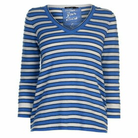 Marc Aurel Marc Stripe V Neck Jumper