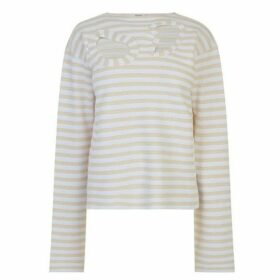 Celine Cut Out Striped Jumper
