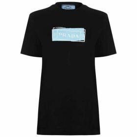 Prada Stamp Logo T Shirt