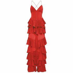 PHOEBE GRACE - Plain Jane Midi Skirt in Giant Pansy Print