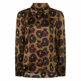 PHOEBE GRACE - Nancy Long Sleeve Shirt In Giant Pansy Print