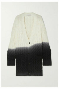 Matthew Adams Dolan - Oversized Ombré Cable-knit Wool Cardigan - Ivory