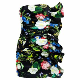 PAISIE - High Neck Jumper With Balloon Sleeves In Blush Marl