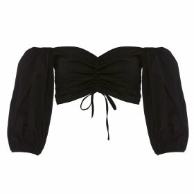 IN. NO - Mint Florence Feather Trim Sweater