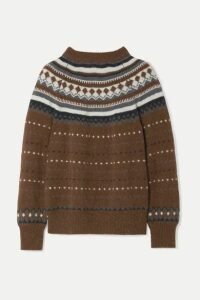 RE/DONE - 50s Fair Isle Knitted Sweater - Brown