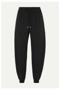 Chloé - Satin-jersey Tapered Track Pants - Black