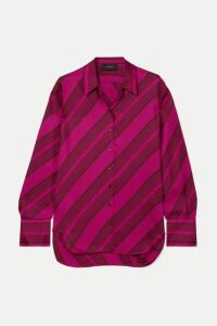 Joseph - Doy Striped Silk-satin Blouse - Magenta
