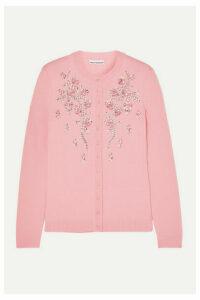 Paco Rabanne - Crystal-embellished Merino Wool Cardigan - Pink