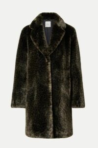 Faz Not Fur - Snow Leo Faux Fur Coat - Dark green