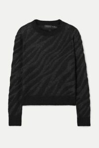 rag & bone - Germain Metallic Alpaca-blend Jacquard-knit Sweater - Black
