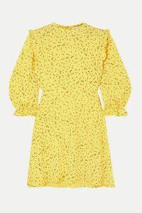Faithfull The Brand - Edwina Ruffled Floral-print Crepe Mini Dress - Yellow