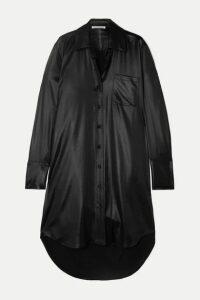 alexanderwang.t - Coated Twill Shirt Dress - Black