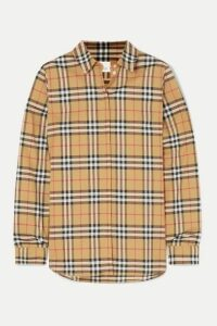 Burberry - Checked Cotton-poplin Shirt - Beige