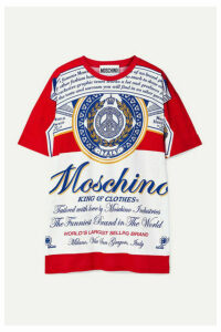 Moschino - + Budweiser Oversized Printed Cotton-jersey T-shirt - Red