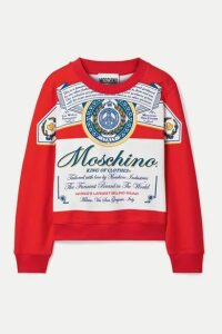 Moschino - + Budweiser Printed Cotton-jersey Sweatshirt - Red