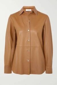 Vince - Leather Shirt - Camel