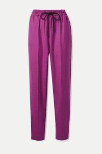 Roksanda - Palmira Wool-blend Twill Tapered Pants - Purple