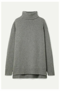Deveaux - Oversized Cashmere Turtleneck Sweater - Gray