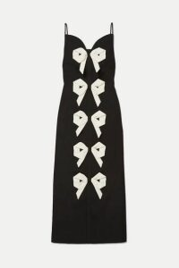 Emilia Wickstead - Paris Bow-detailed Cloqué Dress - Black