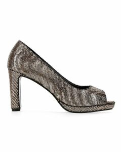 Deena Peep Toe Court Wide Fit