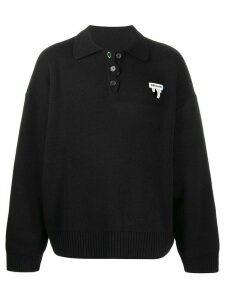 Ader Error button down sweater - Black