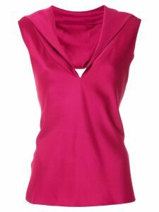 Gloria Coelho cut out detail blouse - PINK
