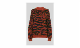 Tiger Stripe Intarsia Knit