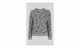 Star Flocked Sweatshirt