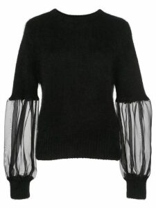 Cynthia Rowley organza sleeve sweater - Black