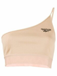 Reebok one-shoulder cropped top - NEUTRALS