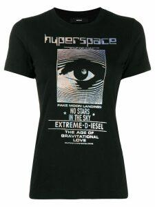 Diesel iridescent foil print T-shirt - Black