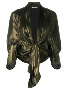 Mes Demoiselles metallic knot blouse
