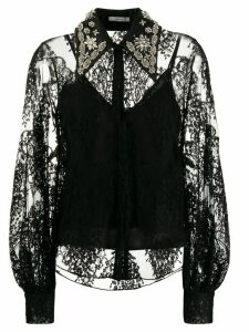 Erdem lace-detail blouse - Black