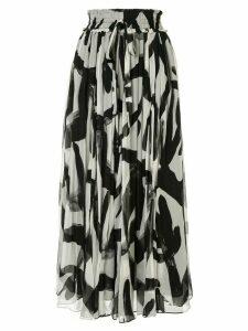 Lee Mathews Estelle maxi silk skirt - Black