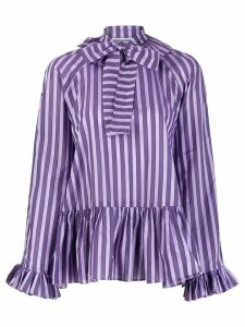 Sofie Sol Studio awning stripe babydoll blouse - PURPLE