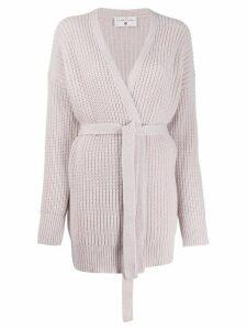 Danielapi tie-fastening knit cardigan - PINK