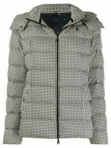 Polo Ralph Lauren houndstooth puffer jacket - Black
