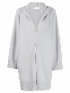 Fabiana Filippi hooded cardi-coat - Blue