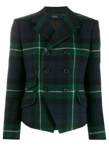 Polo Ralph Lauren plaid double breasted blazer - Blue