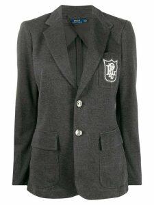 Polo Ralph Lauren regular-fit embroidered logo blazer - Grey