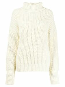 Joseph chunky knit roll neck jumper - NEUTRALS